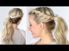 twisted ponytail - YouTube