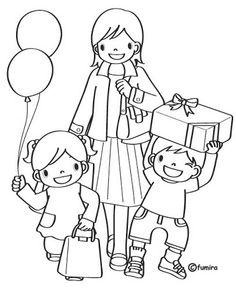 DIBUJITOS INFANTILES - Marilú San Juan Ibarra - Álbumes web de Picasa Art Drawings For Kids, Drawing For Kids, Color Activities, Preschool Activities, Coloring Pages For Kids, Adult Coloring, Colouring Pages, Coloring Books, Cartoon Familie