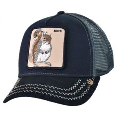 Goorin Bros Squirrel Nuts Mesh Trucker Snapback Baseball Cap Sombreros 6f98d91b534