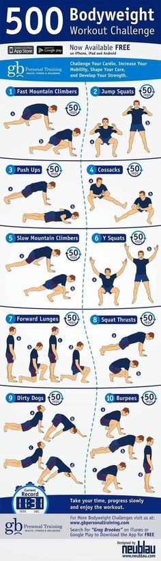 Bodyweight Challenge Workout | Posted By: NewHowToLoseBellyFat.com