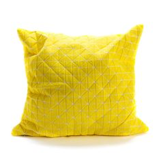 Medium Origami Throw Pillow Cover - Yellow | dotandbo.com