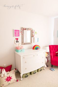 Project Nursery - A-Mermaid-Inspired-Big-Girl-Room-by-Honey-and-Fitz-Dresser