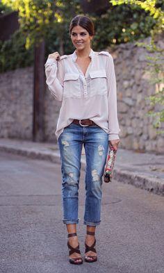 Look Jeans Rasgado Chic: Alfaiataria