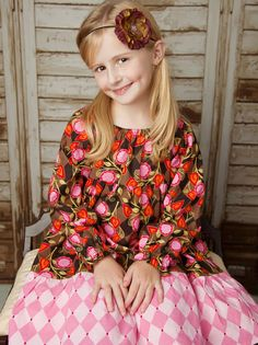 Peasant Dress Pattern for Girls Tiered Twirl Dress by tiedyediva