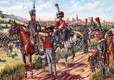 """SOLDIERS- Courcelle: """"Wagram: The 1st Chasseurs à Cheval"""", by Patrice Courcelle & Jack Girbal."""