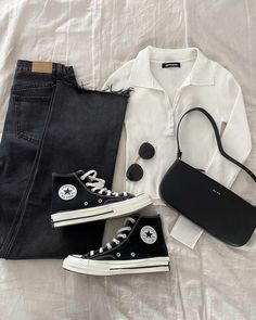 Teen Fashion Outfits, Retro Outfits, Cute Casual Outfits, Stylish Outfits, Swag Outfits, Vintage Outfits, Womens Fashion, Outfits With Converse, Aesthetic Clothes