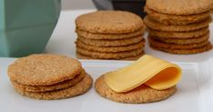 Sunnere havrekjeks Food And Drink, Cookies, Baking, Breakfast, Desserts, Bread Making, Breakfast Cafe, Tailgate Desserts, Biscuits