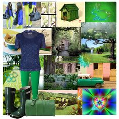 Green in the Garden by kailey-muter on Polyvore featuring polyvore, fashion, style, Jacques Vert, Emilio Pucci, Bogs, Louis Vuitton, H&M, MARBELLA and Seabrook