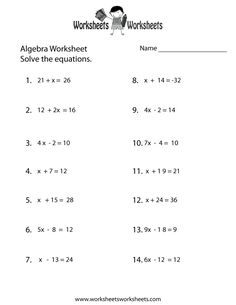 math worksheet : primaryleap co uk  simple algebraic expressions worksheet  maths  : Maths Worksheets For Adults