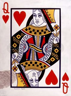 queen of hearts card detail