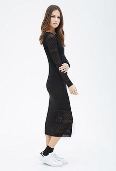Pointelle Knit Midi Dress   Forever 21 - 2000082231