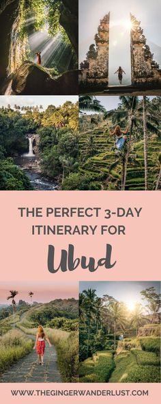 The Perfect Travel Itinerary for Ubud - The Ginger Wanderlust The Perfect 3 Day Ubud Itinerary - Top Things to Do Janina Braun citizenxxxx Bali The Perfect Travel Itinerary for Ubud - The Ginger Wanderlust Janina Braun The Perfect Bali Travel Guide, Travel Tours, Travel Destinations, Travel Hacks, Asia Travel, Travel Guides, Ubud Indonesia, Ubud Hotels, Voyage Bali