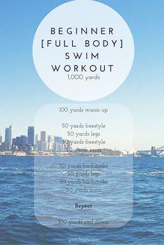 Beginner Full Body Swim Workout