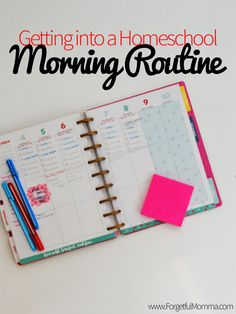 Getting into A Homeschool Morning Routine