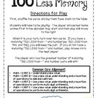 This is a Memory game to help students understand 100 less (or subtracting 100) as a mental math strategy. Each page has 8 cards (a total of 24 car...