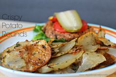 Black Bean Salsa Burgers and Crispy Potato Rounds ~ Veggie Inspired