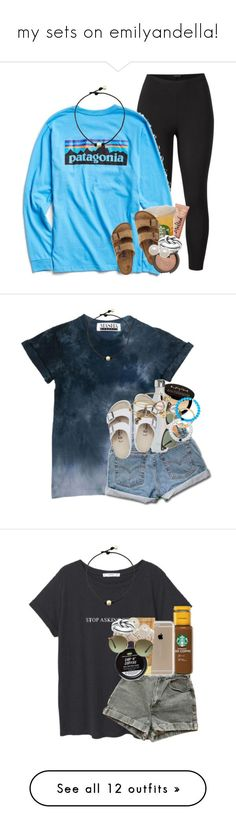 """""""my sets on emilyandella!"""" by ellaswiftie13 ❤ liked on Polyvore featuring Venus, Patagonia, Birkenstock, Too Faced Cosmetics, Becca, Avery, Honora, plus size clothing, Levi's and Charlotte Russe"""