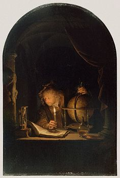 LEARN SOMETHING NEW. Astronomer by Candlelight, Gerrit Dou, late 1650s. The J. Paul Getty Museum