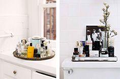 bathroom organizing #trays