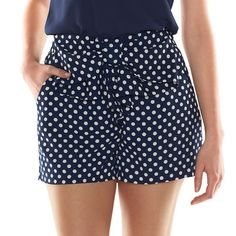 Disney's Minnie Mouse a Collection by LC Lauren Conrad Polka-Dot Soft Shorts - Women's