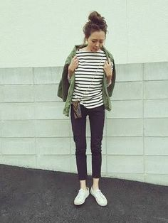Normcore, Style Inspiration, Casual, Womens Fashion, Pants, How To Wear, Outfits, Striped Tops, Feminine