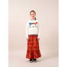 Bobo Choses - Ecru Cat And Dog round neck sweatshirt - Bobo Choses - Merken Stylish Kids, Fashion Kids, Kids Wear, Organic Cotton, Dog Cat, Kids Outfits, Sweatshirts, Skirts, How To Wear