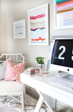 Who says a home office has to be boring? Not this fashion blogger, who's been turning Instagram upside down with pics of her impossibly chic space.