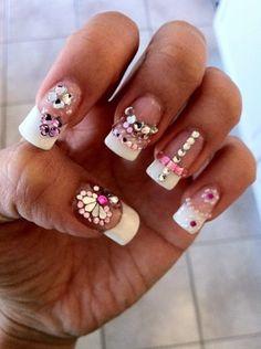 princess nails that sparkle