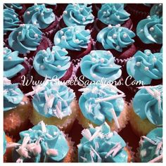 Breakfast at Tiffany's Themed Graduation Party with these cute mini cupcakes to match. : Grad party in Tiffany Blue! Handcrafted with the fi...