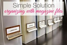 simply organized: Simple Solution: Magazine Files