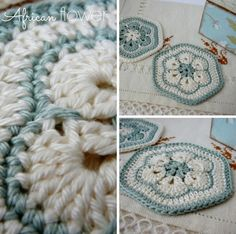 Free Crochet Patterns In South Africa : Made in K-town: African Flower Square Tutorial Crochet ...