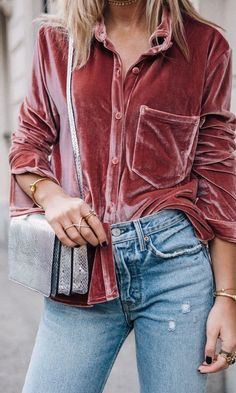 camisa rosa - veludo molhado - moda - tendência - estilo