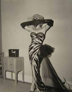 Marilyn Monroe and the tiger dress