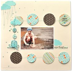 @Amy Heller - beautiful layout using Bazzill's new patterned papers and SRM Stickers.
