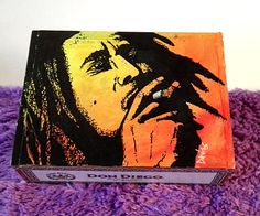 Custom Hand Painted Cigar Box Art – Bob Marley – Music Décor – Reggae – Box - Smoking Decor -Cigar Box Art - Stash Box - Cigar Boxes by TimothyDaviesArt on Etsy
