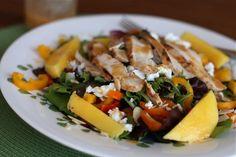 Grilled Chicken Mango Salad via @Aggie's Kitchen