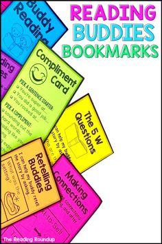 Are you looking to improve your Daily 5 buddy reading center? These comprehension bookmarks will increase student engagement and accountability during your literacy centers. Elementary students can practice making connections, retelling stories, answering questions, and decoding unknown words with their reading buddies. You won't want to miss this resource to enhance your reading workshop! #thereadingroundup #buddyreading #daily5 #firstgrade Partner Reading, Student Reading, Kindergarten Reading, Teaching Reading, Guided Reading, Reading Centers, Reading Workshop, Literacy Centers, Comprehension Strategies