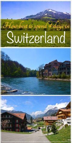 4 days in Switzerland. Lucerne, Bern, Interlaken, Grindelwald, Mount Titlis, Engelberg and the Swiss Alps. Free walking tour. Travel in Europe.