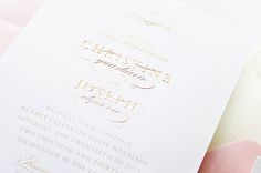 When designing the invitations for her cousin's glamorous vintage-inspired wedding, Jackie of Sincerely, Jackieknew that she wanted to do something really special. The answer? An elegant invitation design with beautiful gold engraving and soft pink letterpress printing. Absolutely stunning! From Jackie:I created these invitations for my cousin, Christine, who's also one of my best friends. …
