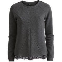 Vila Vimixa - Long Sleeved Top (£22) ❤ liked on Polyvore featuring tops, black iris, tall tops, raglan top, raglan sleeve top, vila and black top