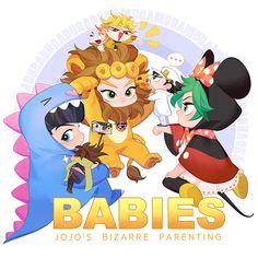 Ginmumu is creating Naughty doodles and comics Jojo's Bizarre Adventure Anime, Jojo Bizzare Adventure, Anime Manga, Anime Art, Dragon Rey, Jojo Anime, Jojo Memes, Cute Chibi, Jojo Bizarre