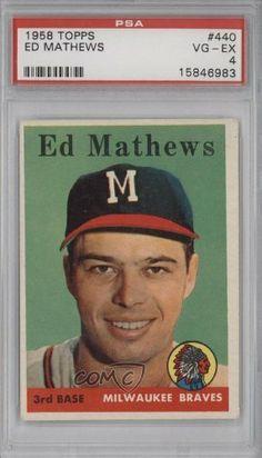 Eddie Mathews PSA GRADED 4 Milwaukee Braves (Baseball Card) 1958 Topps #440 by Topps. $34.00. 1958 Topps #440 - Eddie Mathews PSA GRADED 4