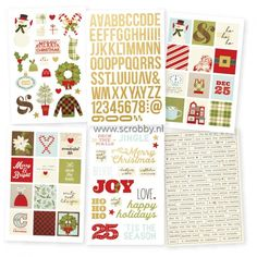 Simple Stories Classic Christmas Stickers 4x6