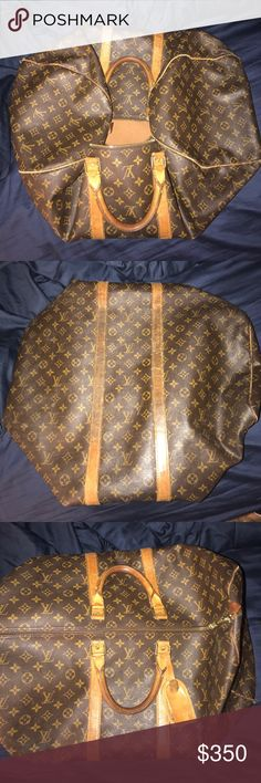Louis Vuitton keepall 55 Monagram canvas Used Louis Vuitton keepall 55. Good condition. Has a couple rips and a stain on the inside Louis Vuitton Bags Travel Bags