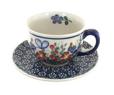 Polish Pottery Garden Butterfly Cup and Saucer ** Haven't you heard that you can find more discounts at this image link : Bakeware
