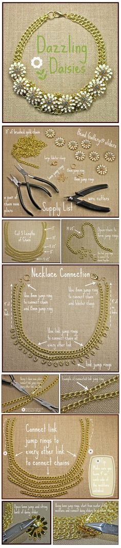 DIY Jewelry Dazzling Daisies NecklaceShortcuts - easy DIY Jewelry available at your local Michaels Store