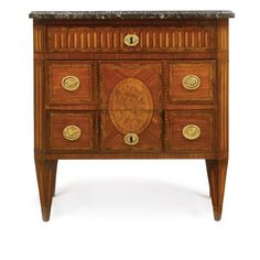 A Louis XVI kingwood, tulipwood and parquetry and marquetry commode circa 1770 Estimate — USD LOT SOLD. USD (Hammer Price with Buyer's Premiu French Furniture, Antique Furniture, Parquetry, Louis Xvi, 18th Century, Auction, Cabinet, Contemporary, Luxury