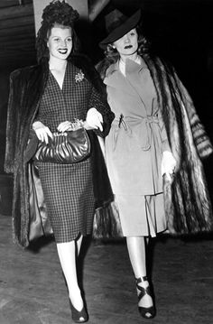 Rita Hayworth and Marlene Dietrich are the definition of street style.  // #streetstyle #fashion #beauty #icons