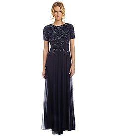 Decode 18 BeadedBodice Chiffon Gown #Dillards