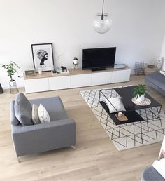 Scandinavian modern living room carpet berbere furniture bes… – Tables and desk ideas Nordic Living Room, Best Living Room Design, Ikea Living Room, Living Room Carpet, Living Room Modern, Home And Living, Living Room Designs, Room Interior, Interior Design